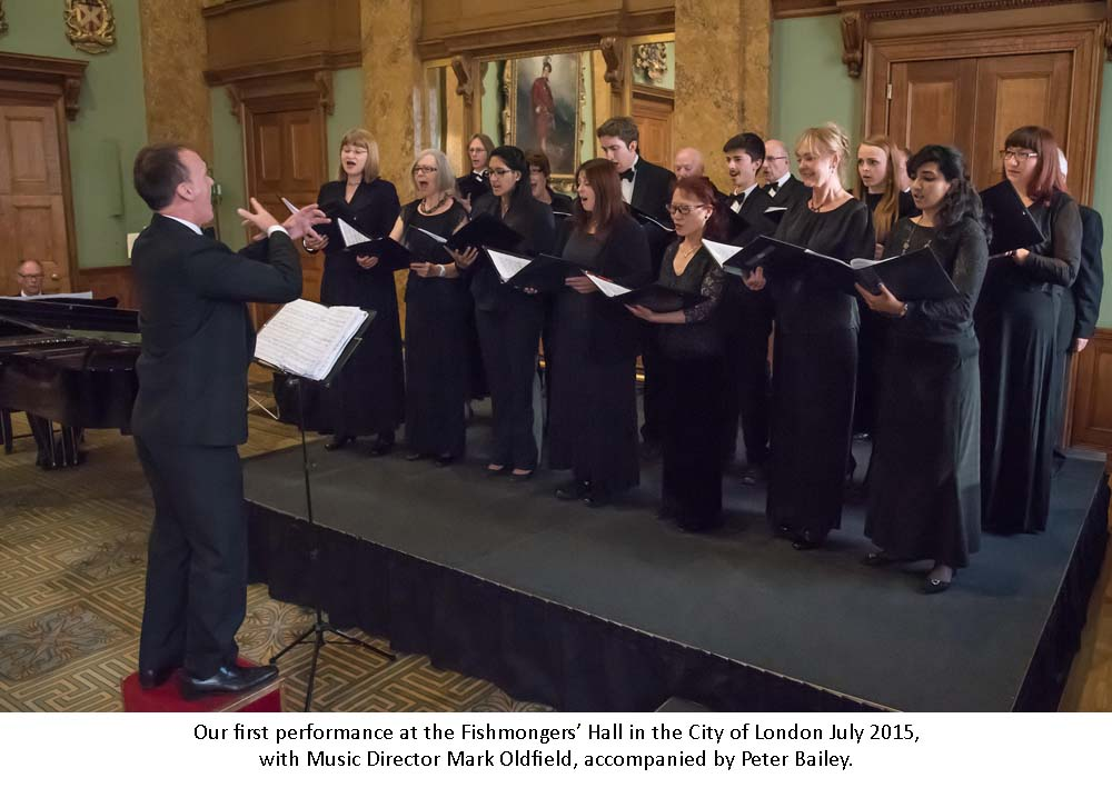 "London,UK, 22th July 2015 : UK-China International Exchange Association sponsors the ""East West Gala Concert"" in aid of the Lord Mayor's Appeal 2015 and Mulan Foundation. East and West culture and music by East West Chorus at Fishmongers Hall, London. Photo by See Li"