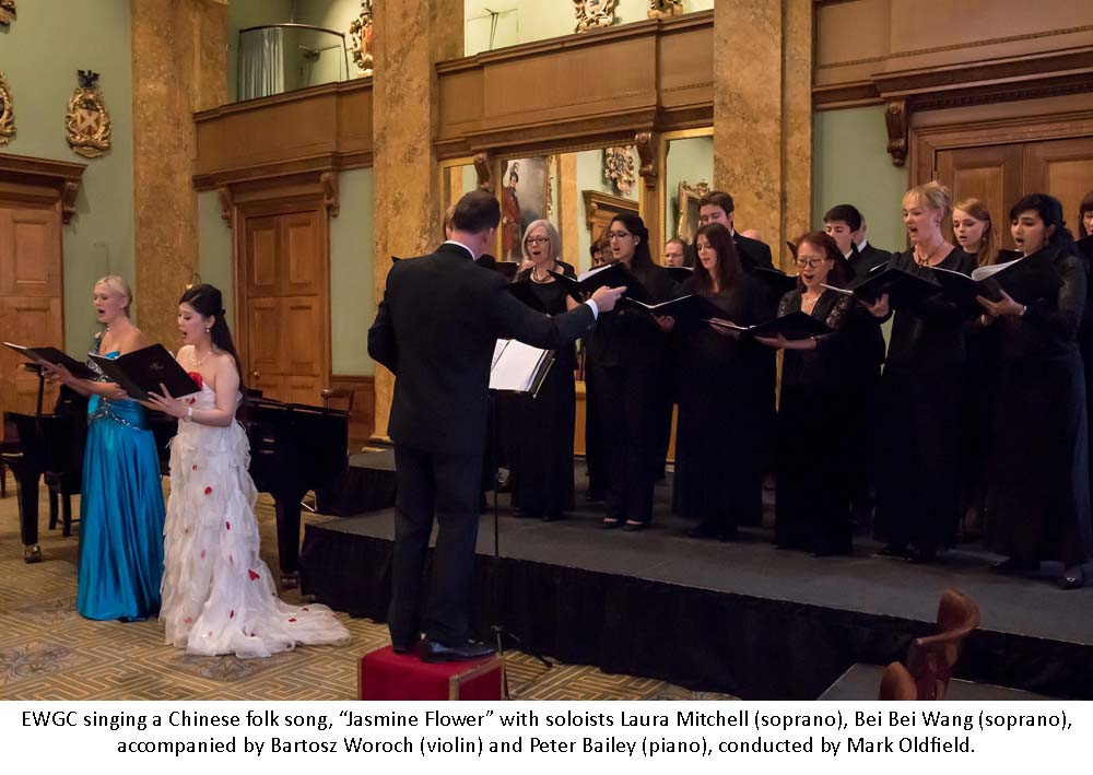"London,UK, 22th July 2015 : Mark Oldfield contracts East West Chorus at the rehearser at the ""East West Gala Concert"" in aid of the Lord Mayor's Appeal 2015 and Mulan Foundation at Fishmongers Hall, London. Photo by See Li"